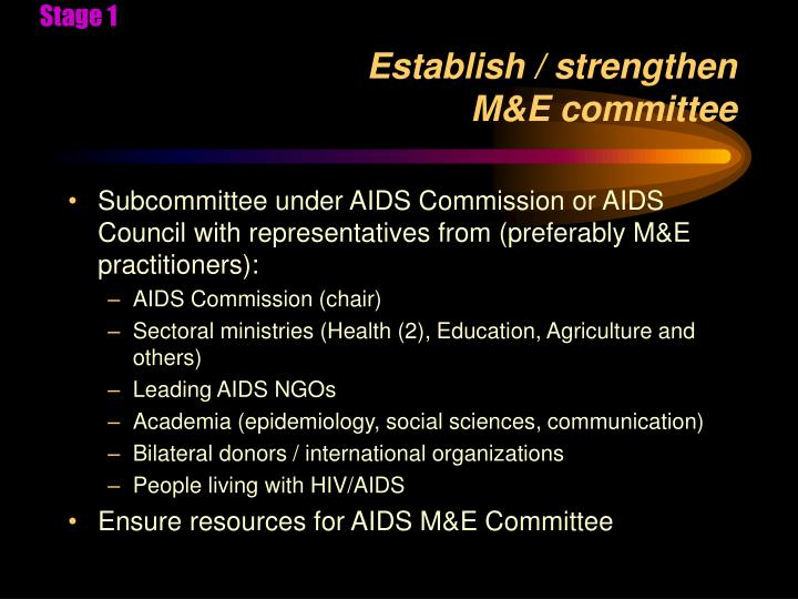 Establish strengthen m e committee
