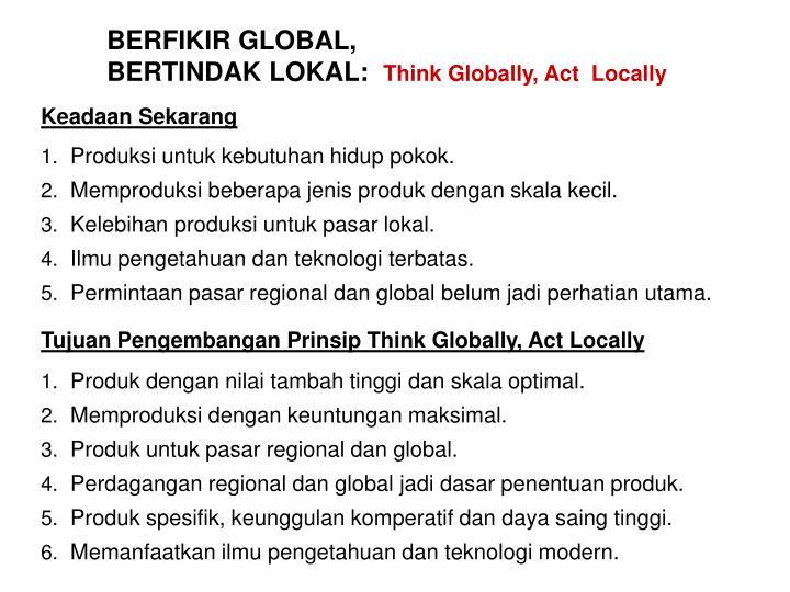 BERFIKIR GLOBAL,