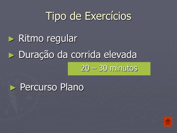 Tipo de Exercícios