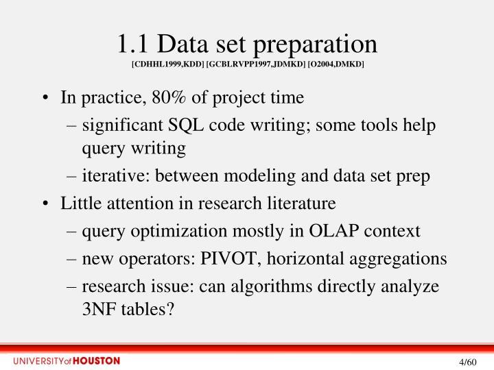 1.1 Data set preparation