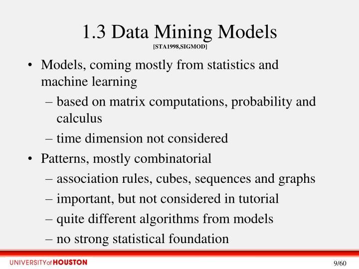 1.3 Data Mining Models