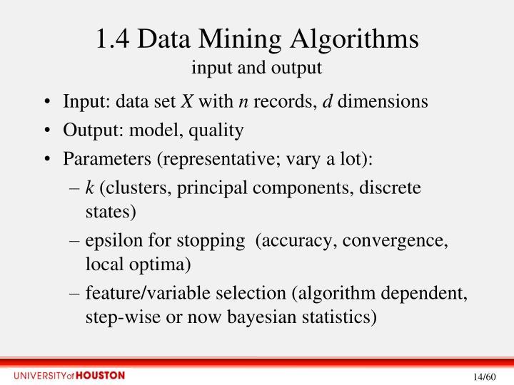 1.4 Data Mining Algorithms