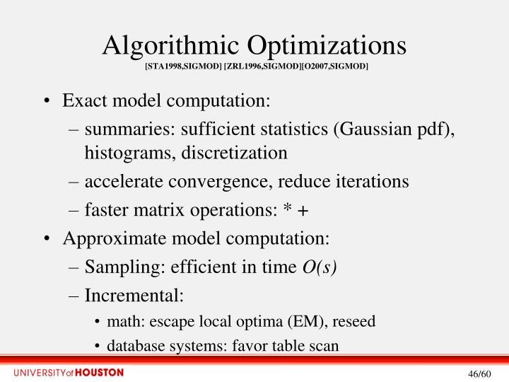 Algorithmic Optimizations