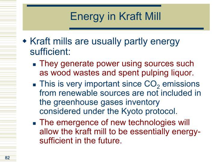 Energy in Kraft Mill