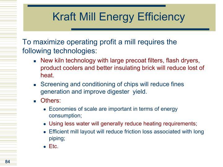 Kraft Mill Energy Efficiency