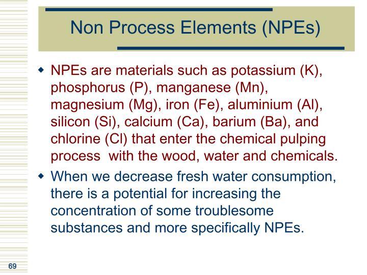 Non Process Elements (NPEs)