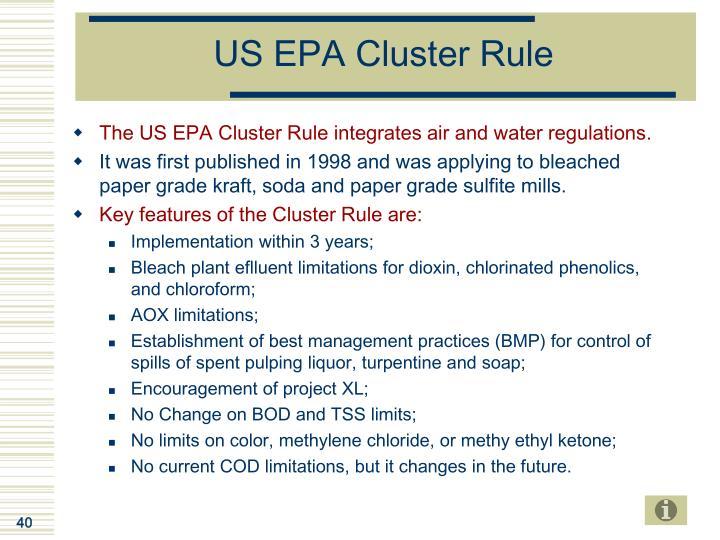 US EPA Cluster Rule