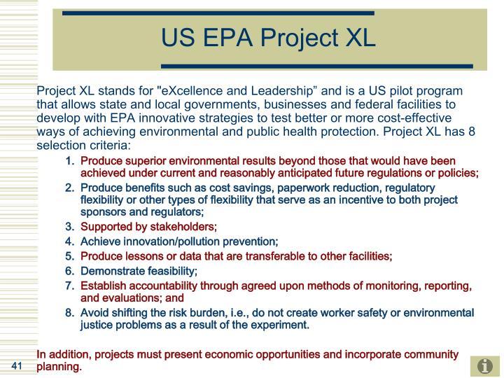 US EPA Project XL