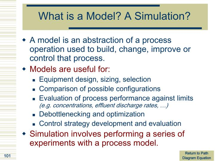 What is a Model? A Simulation?