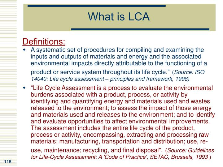 What is LCA