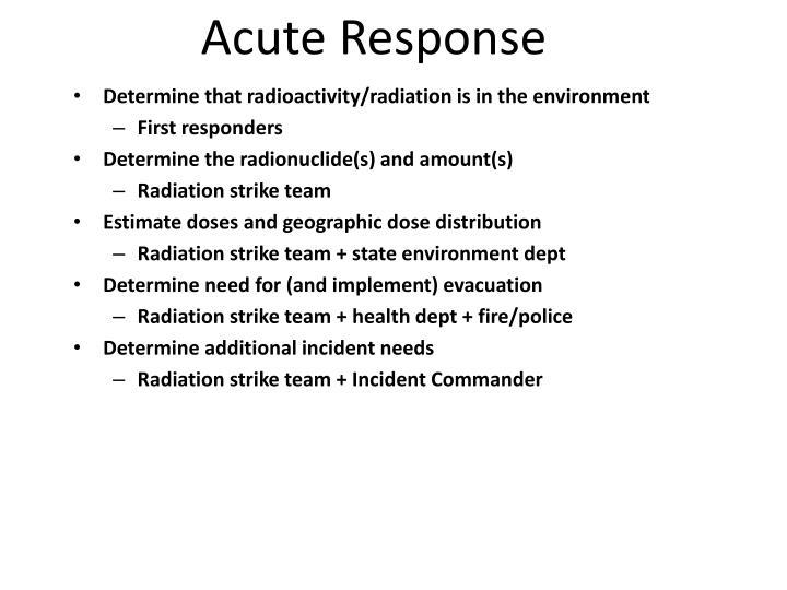 Acute Response