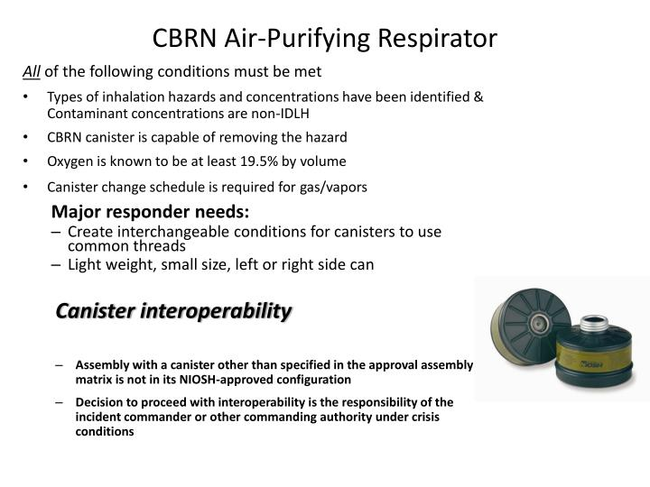 CBRN Air-Purifying Respirator