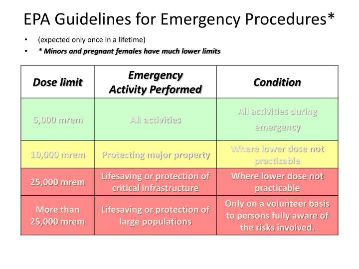 EPA Guidelines