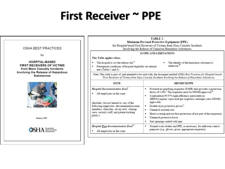 First Receiver ~ PPE