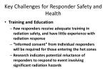 key challenges for responder safety and health1