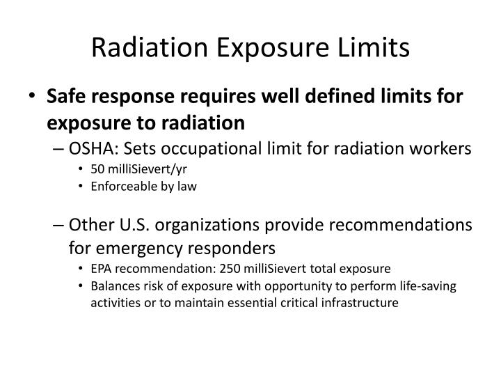 Radiation Exposure Limits