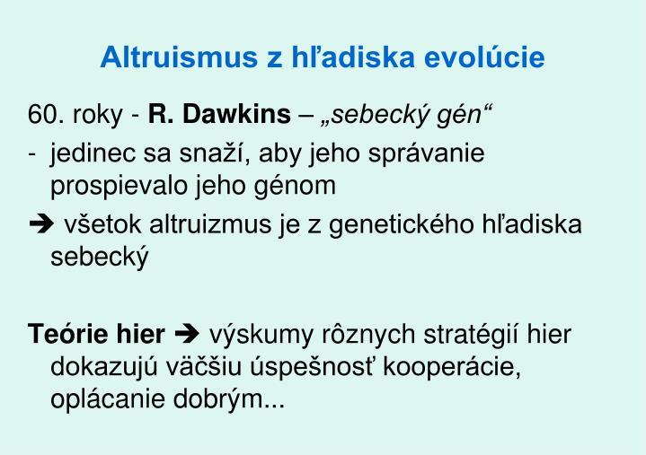 Altruismus z hľadiska evolúcie