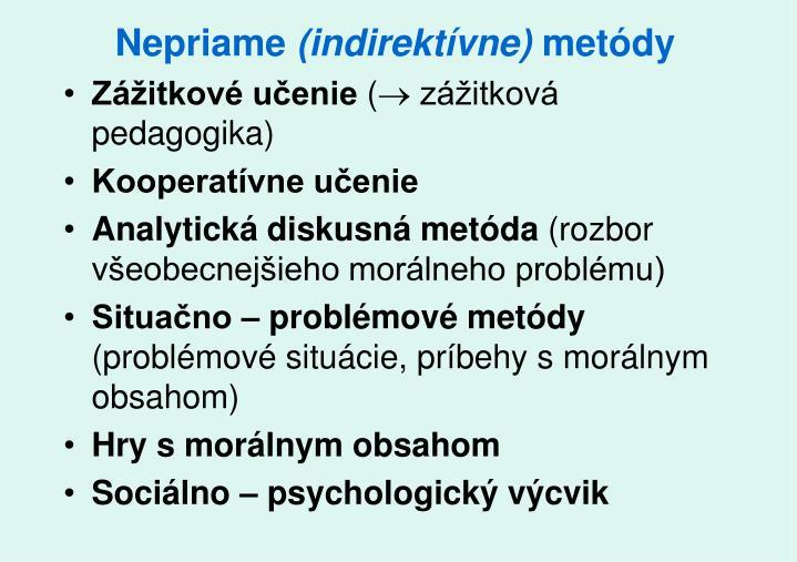 Nepriame