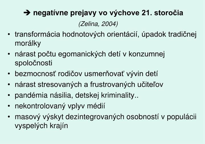 negatívne prejavy