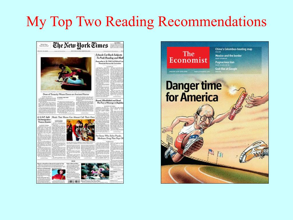 My Top Two Reading Recommendations