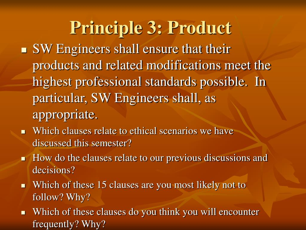 Principle 3: Product