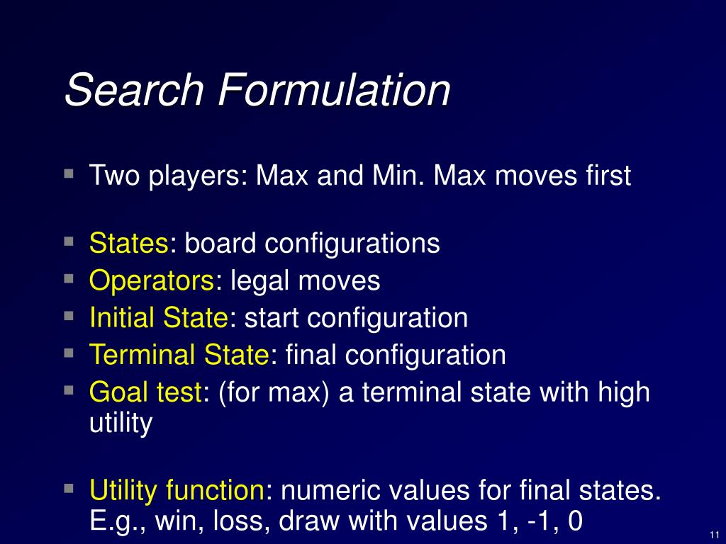 Search Formulation