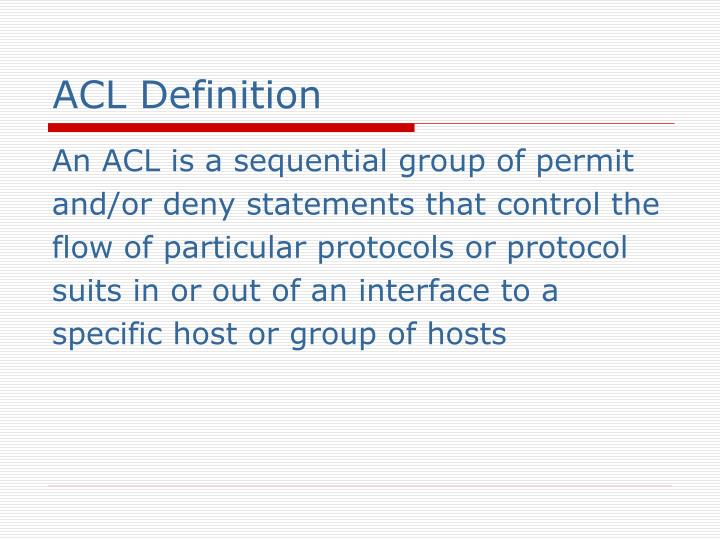 ACL Definition