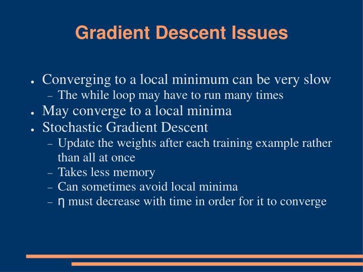 Gradient Descent Issues