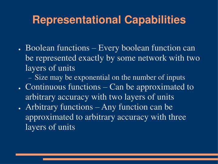 Representational Capabilities