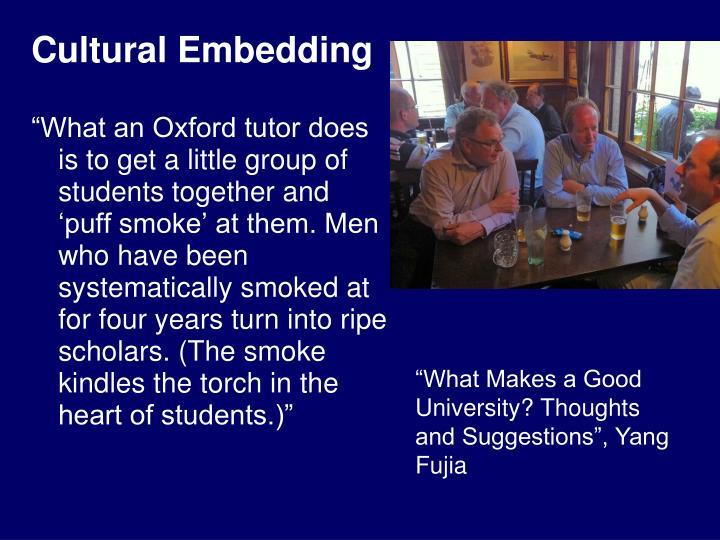 Cultural Embedding