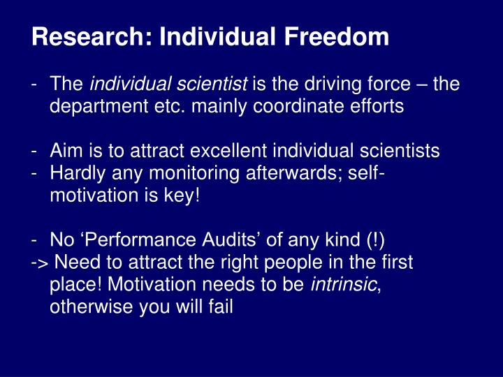 Research: Individual Freedom
