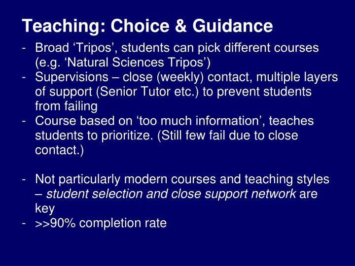Teaching: Choice & Guidance