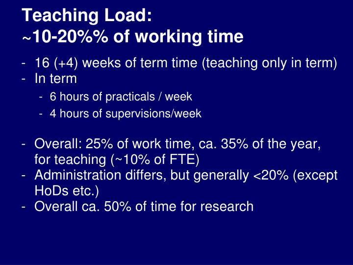 Teaching Load: