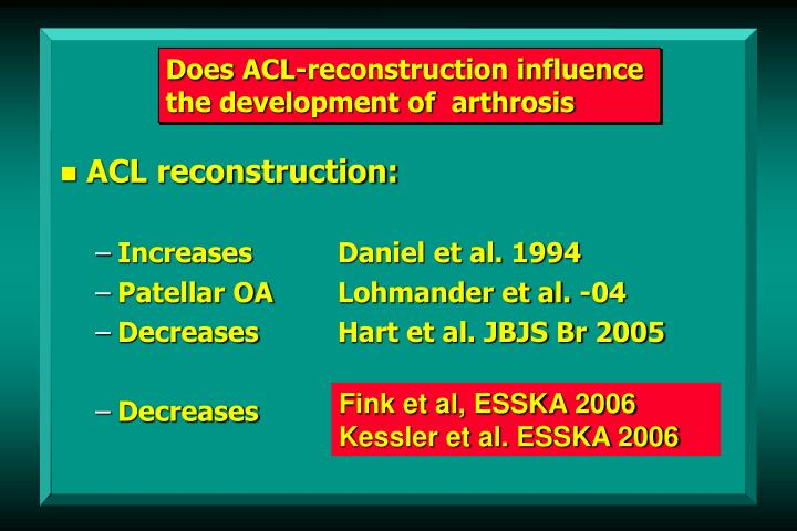 Does ACL-reconstruction influence