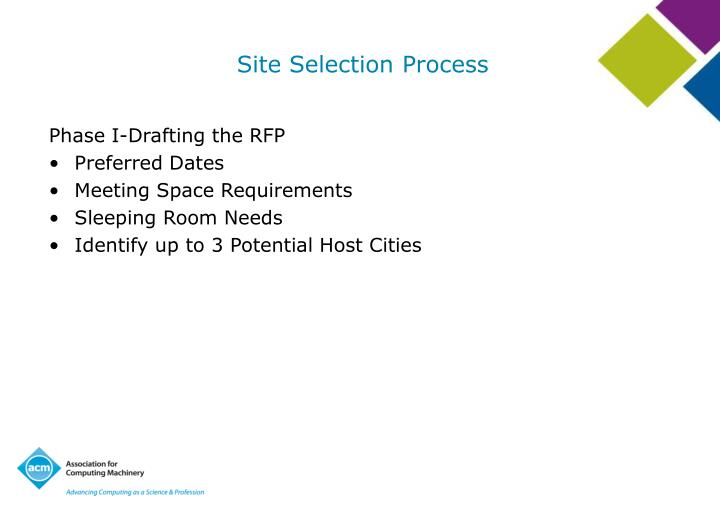 Site Selection Process