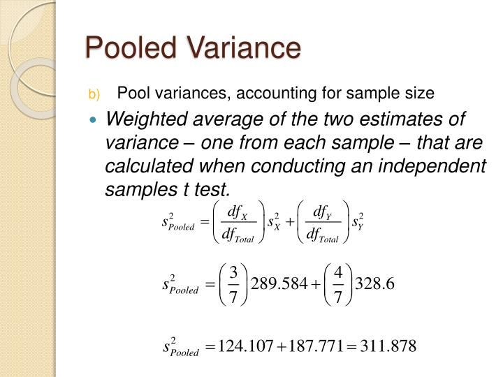Pooled Variance