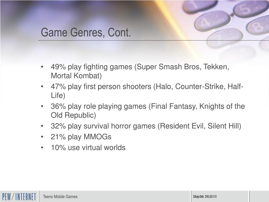 Game Genres, Cont.