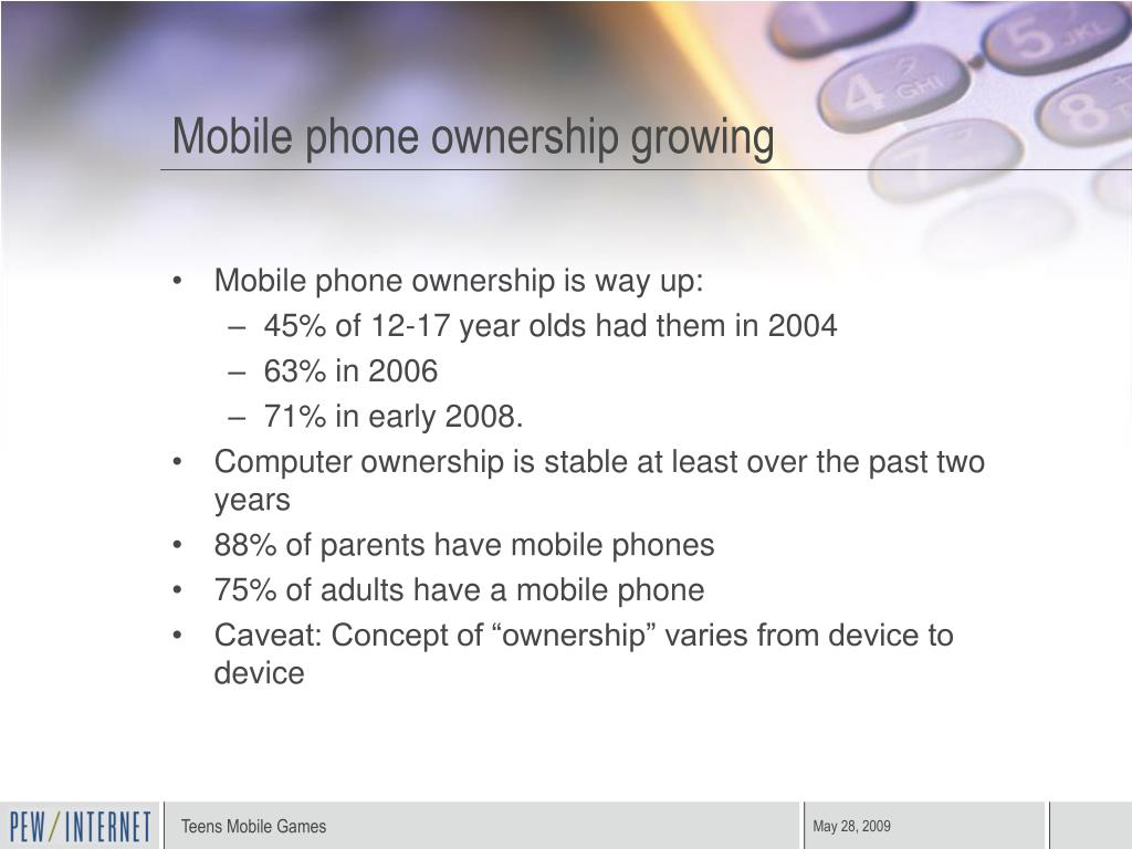 Mobile phone ownership growing