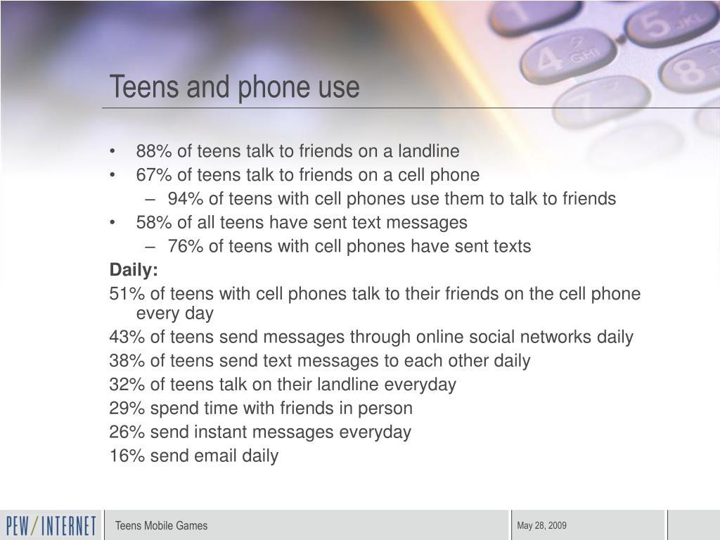 Teens and phone use