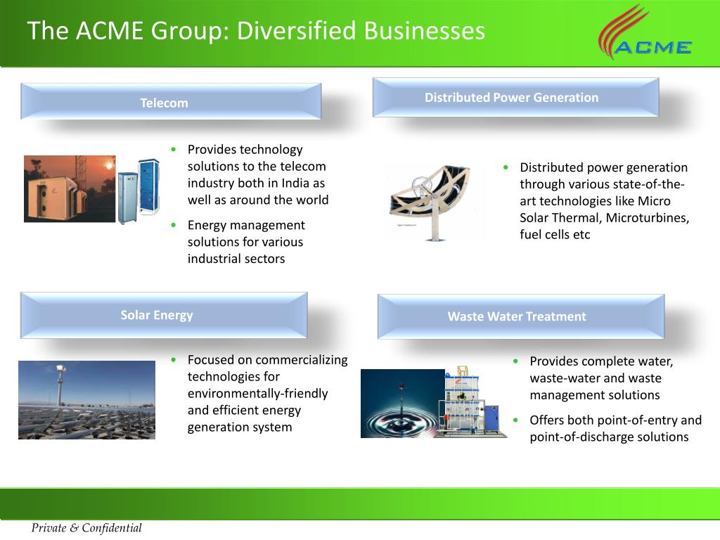 The ACME Group: Diversified Businesses