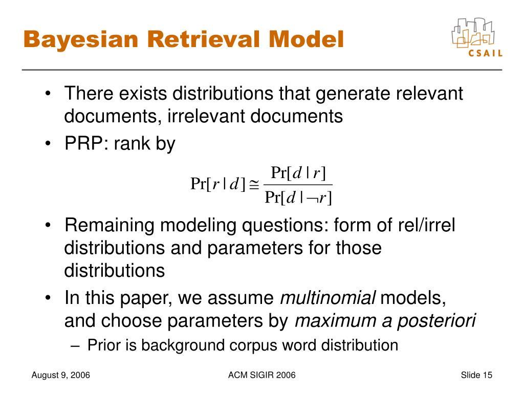Bayesian Retrieval Model