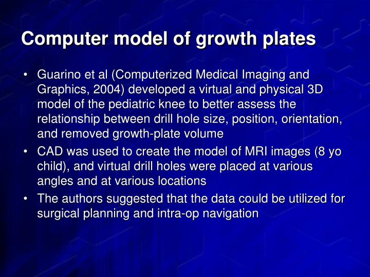Computer model of growth plates