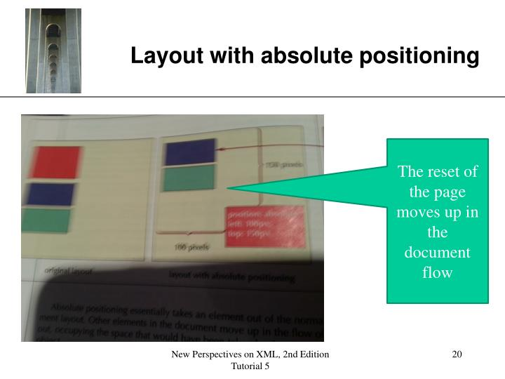 Layout with absolute positioning
