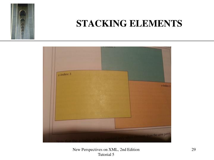 STACKING ELEMENTS