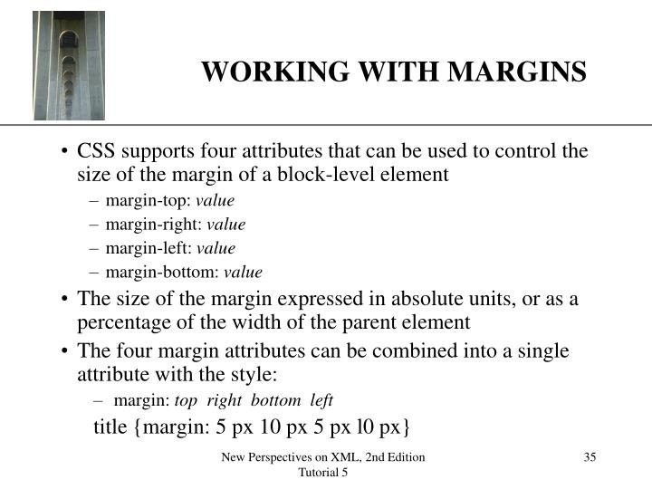 WORKING WITH MARGINS