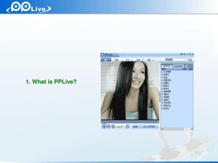 1. What is PPLive?