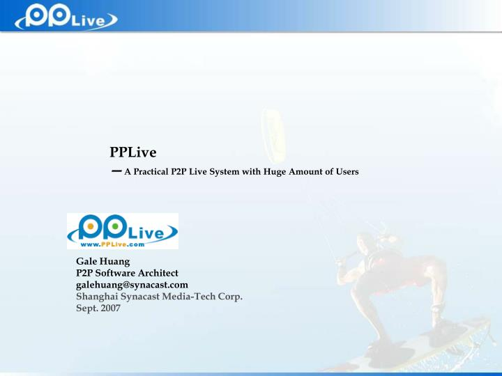 pplive a practical p2p live system with huge amount of users