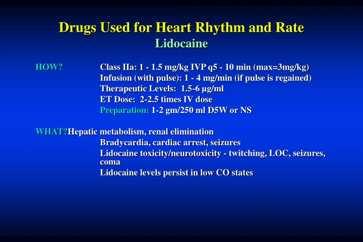 Drugs Used for Heart Rhythm and Rate