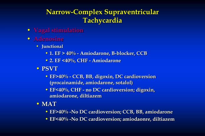 Narrow-Complex Supraventricular Tachycardia