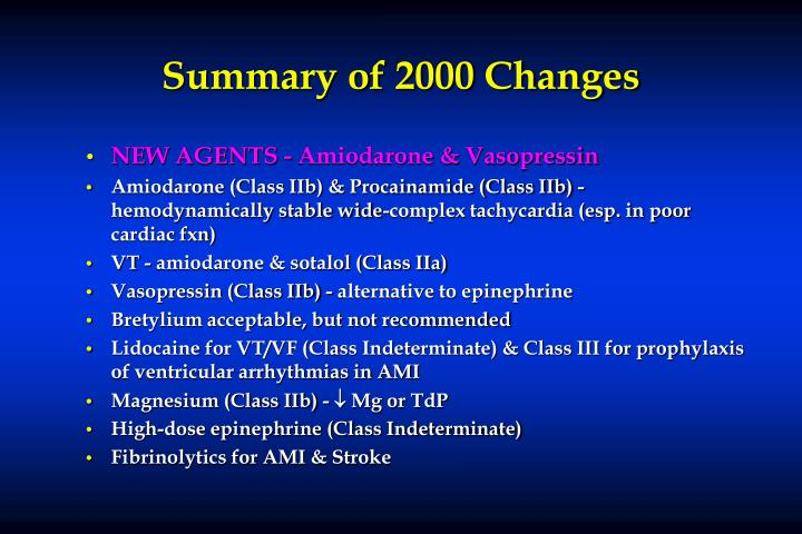 Summary of 2000 Changes